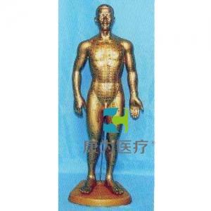 康为医疗68全皮肤铜色人体针灸模型