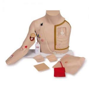 德国3B Scientific®高级胸部导管穿刺护理训练威廉希尔