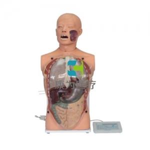 """""""康为医疗""""医模高仿真透明洗胃模型(生命体征设置)洗胃术技能模型"""
