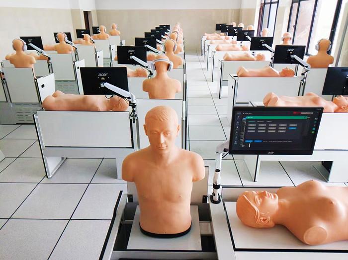 医院模拟教学设备,胸部听诊与腹部触诊检查训练系统